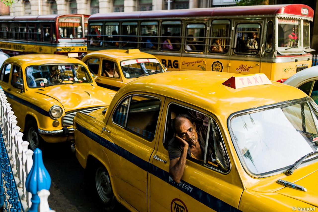 Calcutta taxi driver