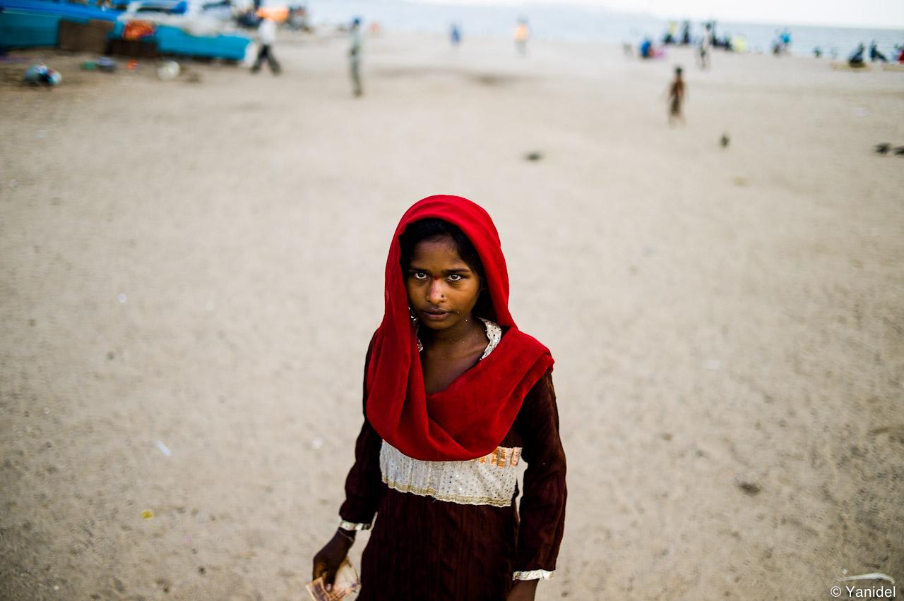 Mumbai beach girl