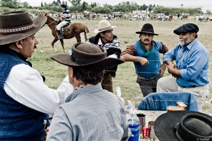 Friends rodeo field