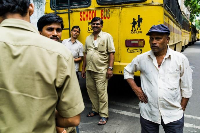 Bus drivers in Mumbai