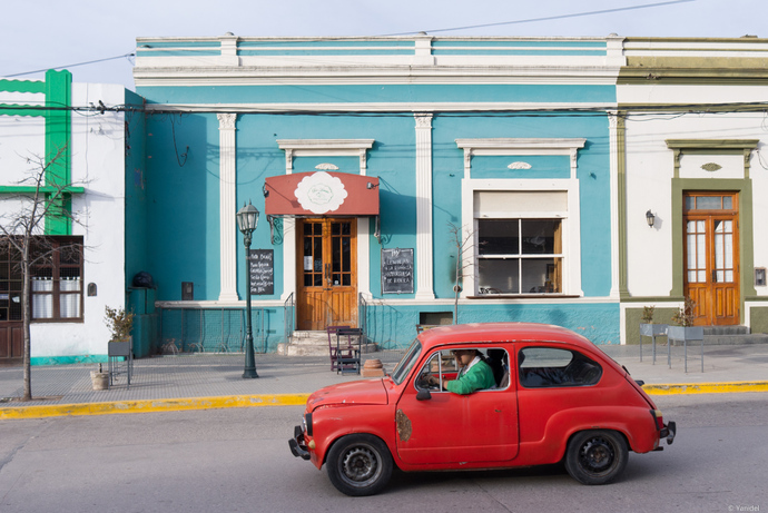 Red Fiat 500 yanidel