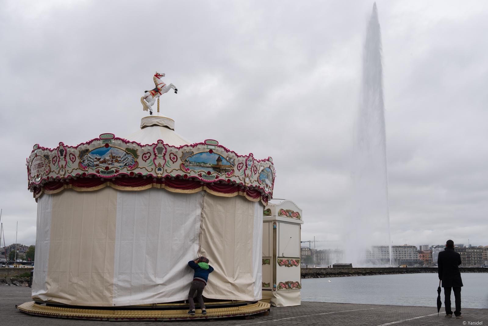 Merry go round in Geneva